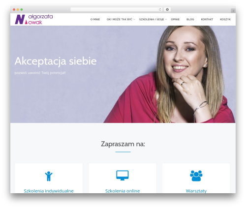 Parallax One WordPress theme - malgorzatanowak.pl