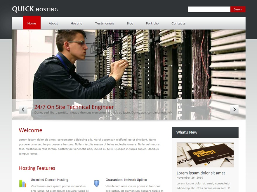 Quickhost WordPress template for business