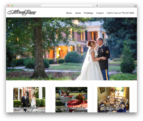 Reznor WordPress wedding theme - mcdaniel-tichenor.org