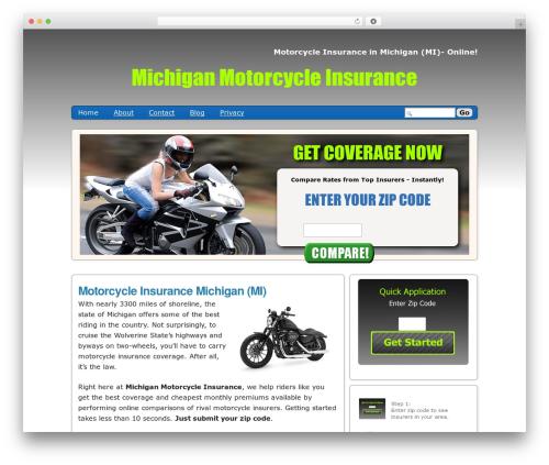 Semiologic Pinnacle WordPress theme - michiganmotorcycleinsurance.org