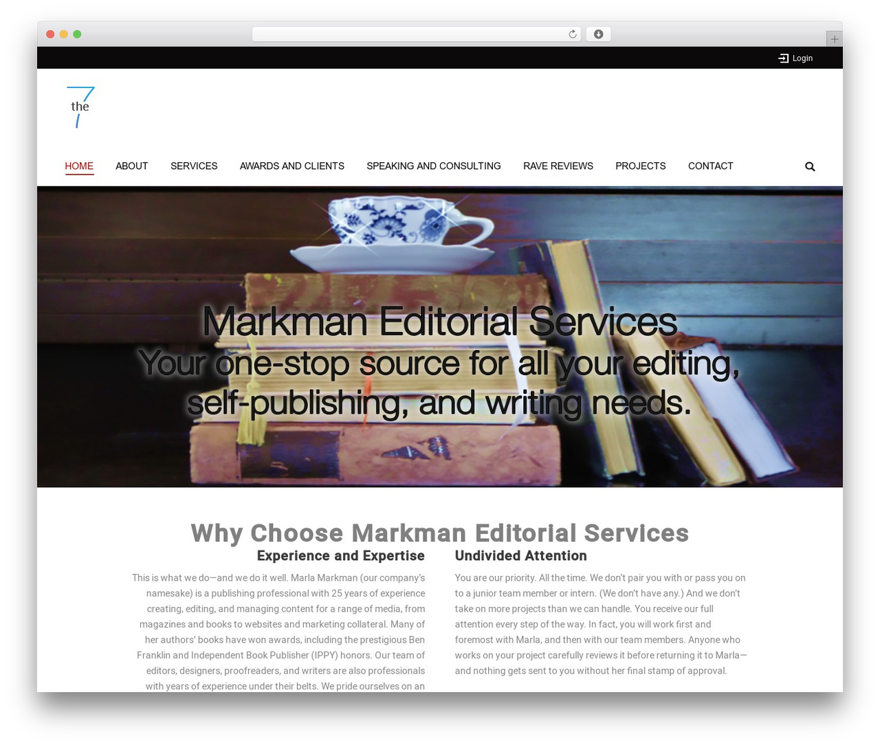 The7.2 WordPress theme - marlamarkman.com