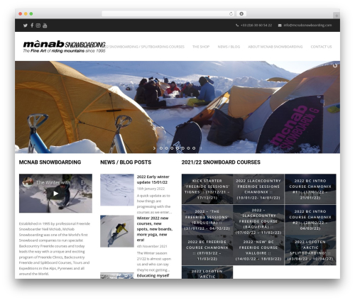 Total theme WordPress free - mcnabsnowboarding.com