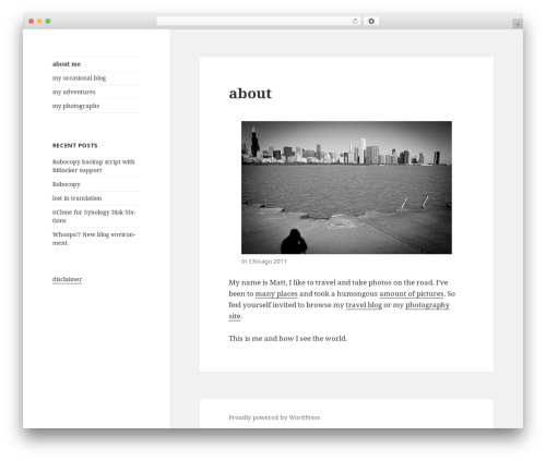 Twenty Fifteen best free WordPress theme - matthias-hahn.org