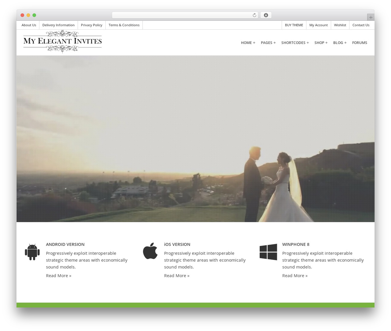 Une Boutique WordPress wedding theme by Capital Themes ...