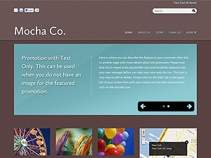 WordPress template Color Collection: Mocha