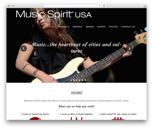Best WordPress theme Rock Star Pro - musicspiritusa.com