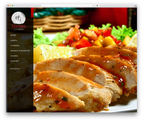 Catering WordPress page template - metrocatering.pl