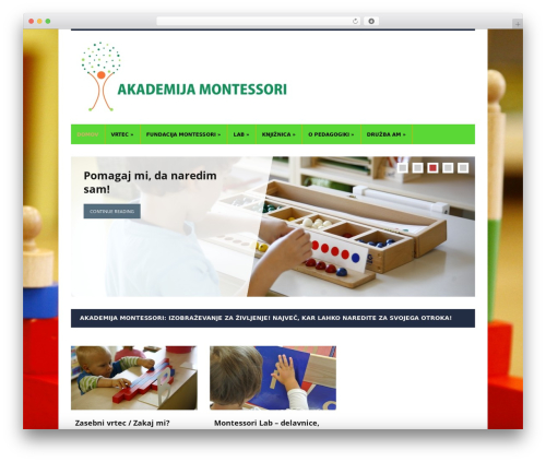 Lectura theme WordPress - montessori.si