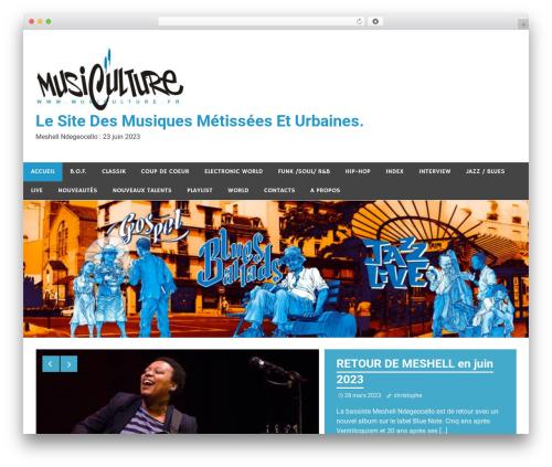 Free WordPress 3D Tag Cloud plugin - musiculture.fr