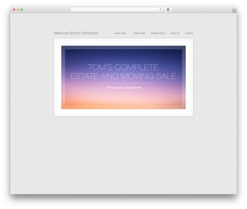 MiniFolio WordPress theme design - mrcantiques.com