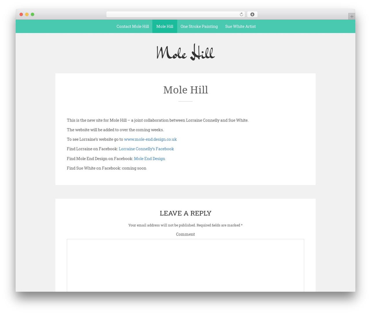 Sean Lite free WordPress theme - mole-hill.co.uk