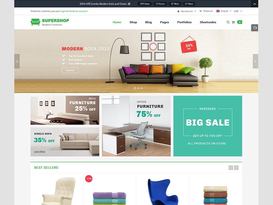SW_Supershop WordPress shopping theme