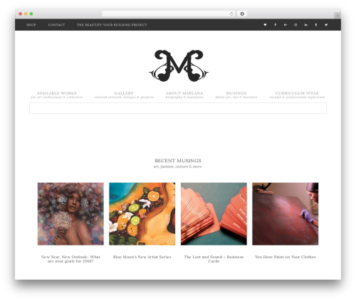 Theme WordPress Flourish Theme - marlanasmusings.com