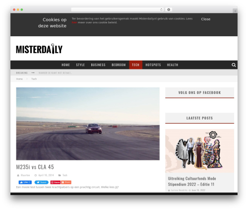 Theme WordPress Valenti (Share on Theme123.Net) - misterdaily.nl/2014/04/16/29205/m235i-vs-cla-45