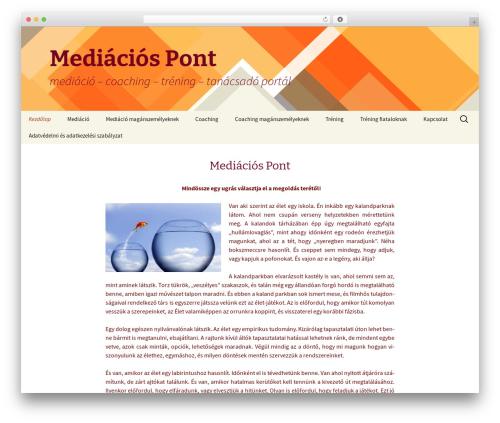 Twenty Thirteen WordPress page template - mediaciospont.com
