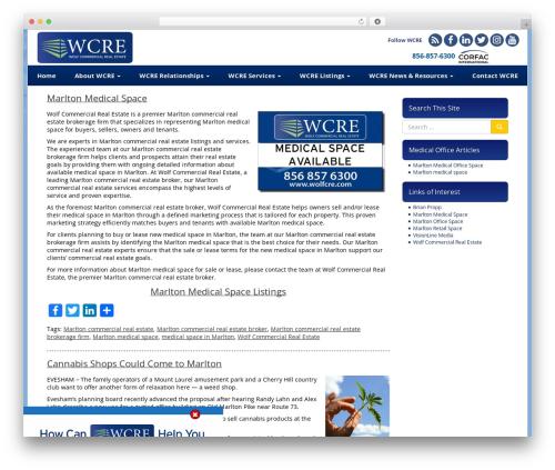VLM WordPress page template - marltonmedicalspace.com