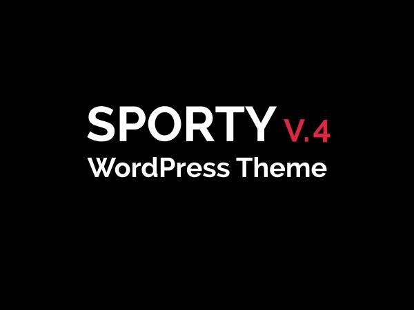 WordPress website template Sporty Child