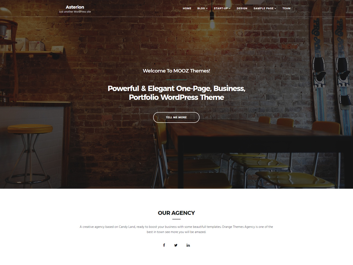 Asterion Child WordPress blog theme