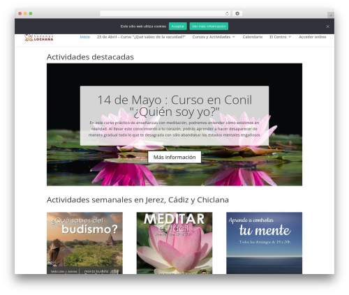 Best WordPress template Divi - meditaencadiz.org