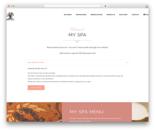 Best WordPress theme Jacqueline - my-spa.com