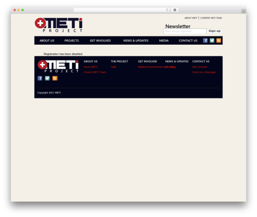 Best WordPress theme meti - metiproject.org/wp-signup.php?new=metiproject.com