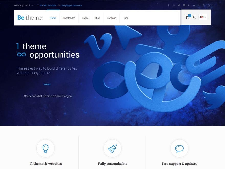 Betheme top WordPress theme