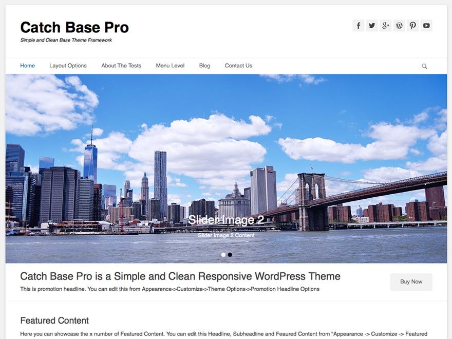 Catch Base Pro Child 02 WordPress theme design
