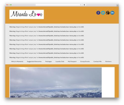 Coller WordPress travel theme - mirandalove.com