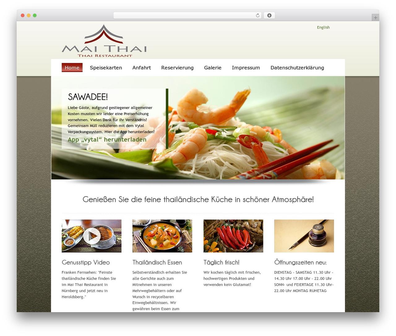 ColorWay template WordPress free - mai-thai-restaurant.de