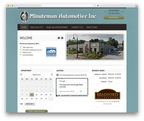 Diner car rental WordPress theme - minutemanauto.com