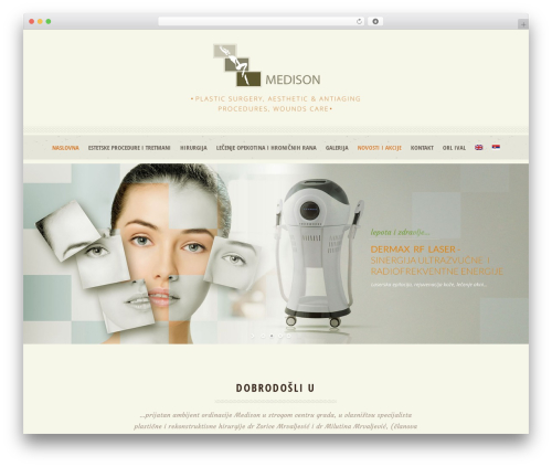 Dream Spa WordPress theme - medison.rs