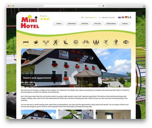 Finesse best hotel WordPress theme - minihotel.si