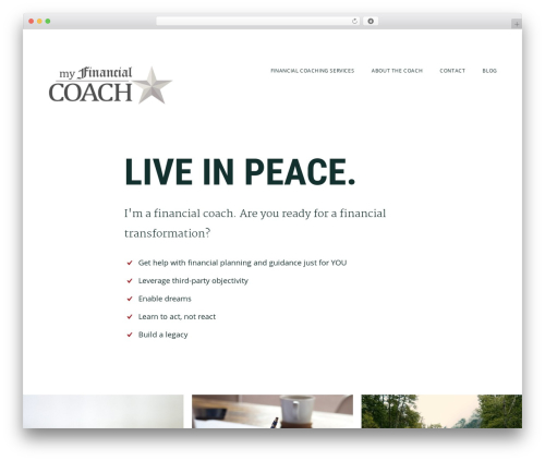 Genesis best WordPress theme - myfincoach.com