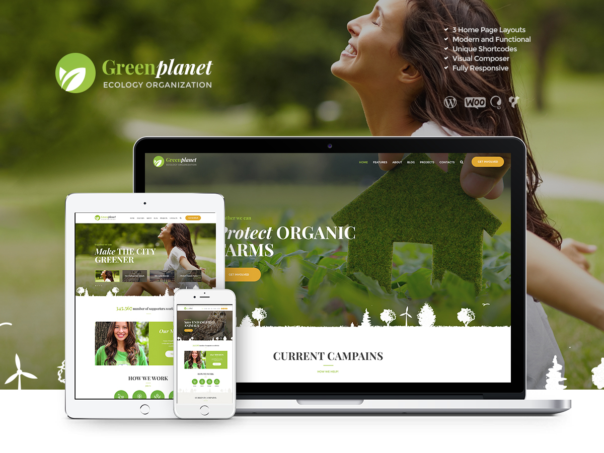 Green Planet Child WordPress theme