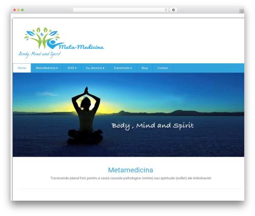 Health-Center-Lite WordPress website template - metamedicina.ro