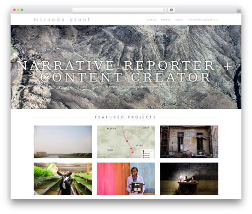 Hero WordPress theme - mirandasgrant.com