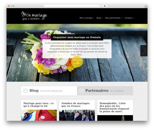 Hyper WordPress theme design - mon-mariage-gay.com