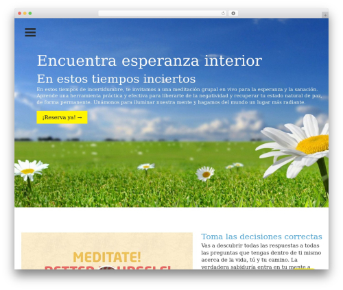 One Page Meditation Guide best WordPress theme - meditacioncolombia.org