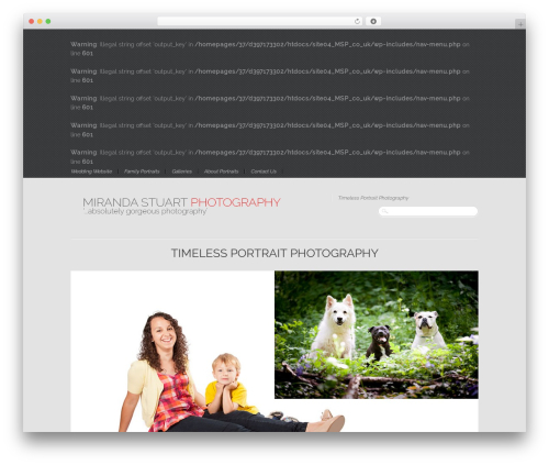 Reportage WordPress gallery theme - mirandastuart.co.uk
