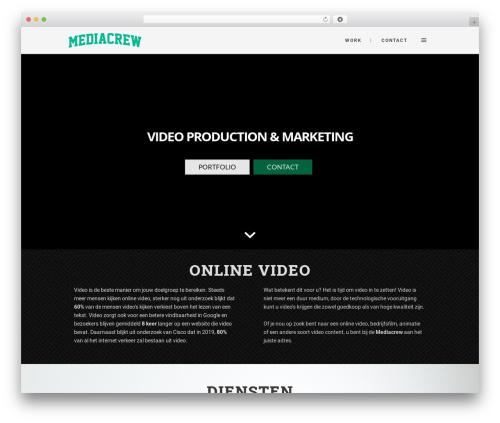 Stockholm best WordPress video theme - mediacrew.nl