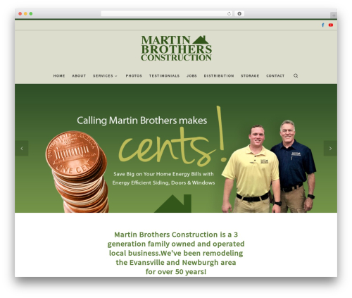 Template WordPress Customizr - martinbrothersco.com