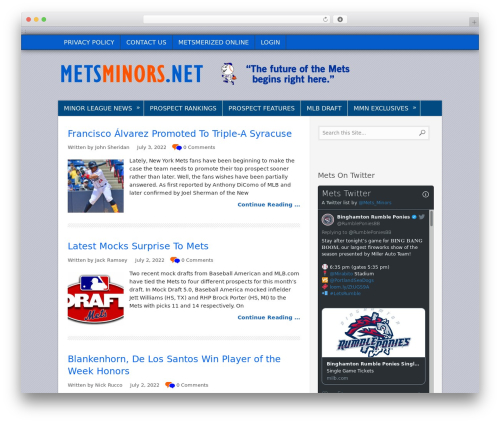 TruePixel best WordPress magazine theme - metsminors.net
