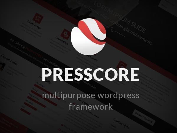 WordPress theme PressCore