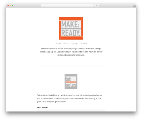 WP theme ATOM - makereadylab.com