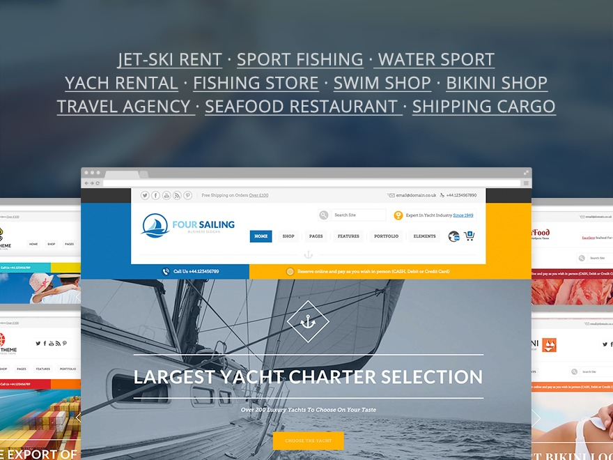 456 Sailing v 1.1.1 WordPress shopping theme