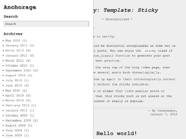 anchorage WordPress theme download