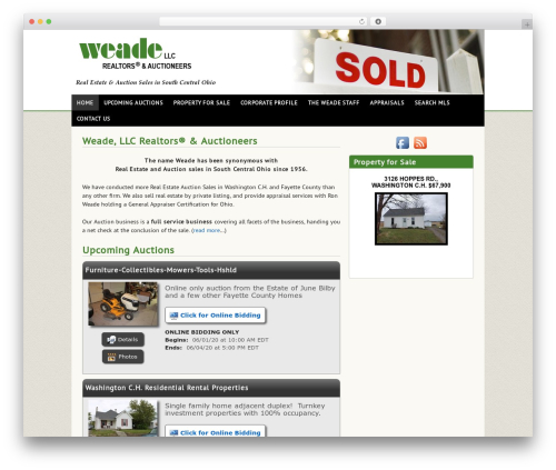 Auction Company Template WordPress template for business - weaderealtors.com