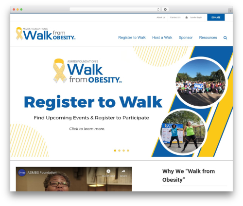 Avada WordPress theme - walkfromobesity.com