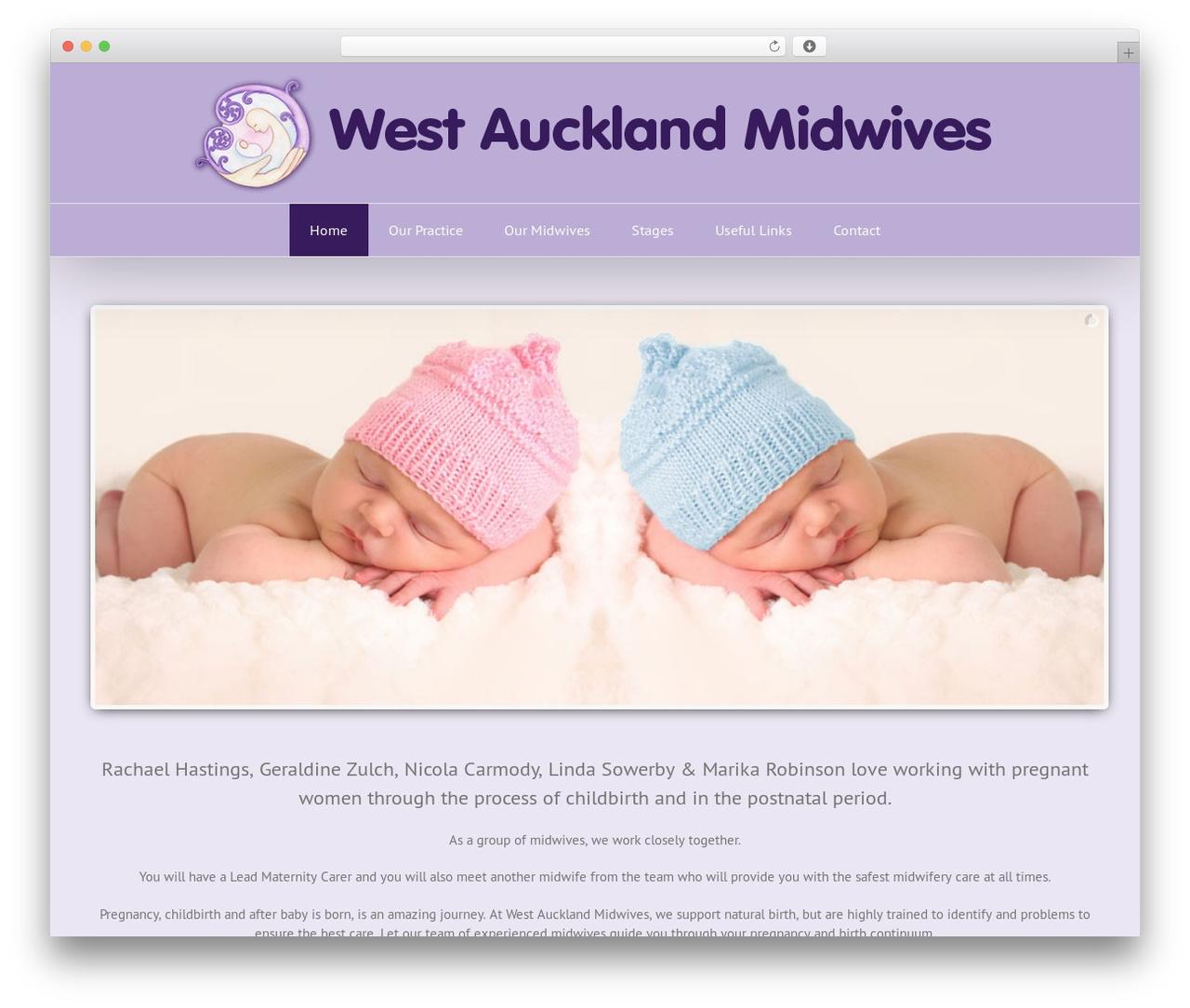 Avada WordPress theme - westaucklandmidwives.org.nz