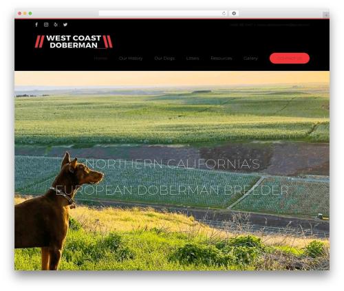 Avada WordPress theme - westcoastdoberman.com